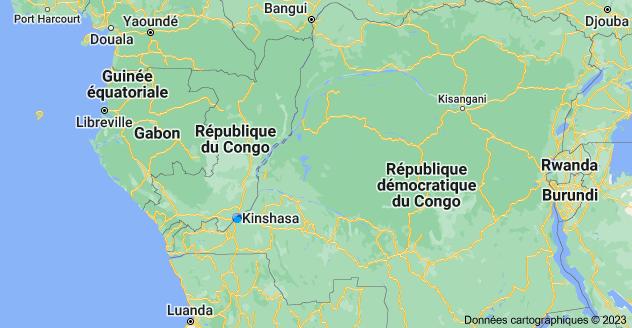 Le Congo: carte